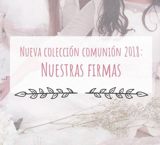 firmas de comunión 2018