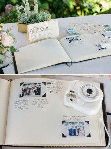 Libro de firmas con fotografías