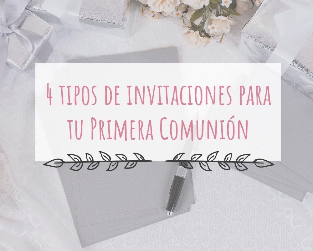 4 Tipos De Invitaciones Para Tu Comunión Marla Comuniones