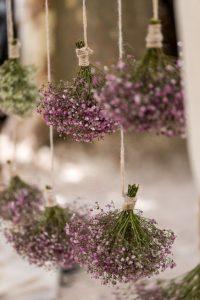 globos con ramos de flores