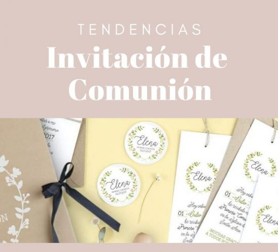 Tendencias en invitaciones de comunión
